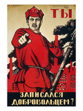 Russia: Army Poster, 1920 Giclee Print by Dmitry Moor