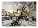 Vienna: Winter Scene, 1888 Giclée-Druck von Johann Varone