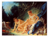 Boucher: Diana Bathing Art by Francois Boucher