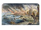 Lisbon Earthquake, 1755, Giclee Print