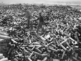 Korean War: Shell Casings Photographic Print