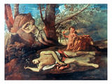 Echo And Narcissus Poster by Nicolas Poussin