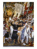 Mexico: 1810 Revolution Giclee Print by Juan O&#39;Gorman