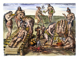 Native Americans: Disease Giclee Print by Theodor de Bry