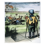 Polio Cartoon, 1957 Giclee Print by Tom Little