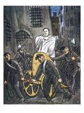 Benito Mussolini Cartoon Giclee Print by Wilhelm Schulz