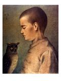 Degouve: Child & Owl, 1892 Impression giclée par William Degouve De Nuncques