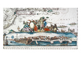 New Amsterdam, 1673 Giclee Print by Hugo Allard