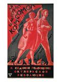 Soviet Poster, 1924 Giclee Print by Alexander Samokhvalov