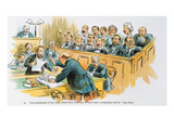Litigation Cartoon Giclee Print