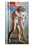 Masaccio: Expulsion Giclée-tryk af Masaccio,
