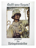 World War I: German Poster Giclee Print by Fritz Erler