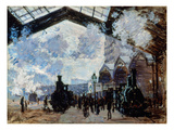 Monet: Gare St-Lazare, 1877 Prints by Claude Monet