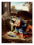 Adoration Of The Child Print by Antonio Allegri Da Correggio