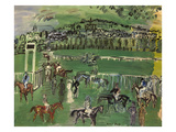 Dufy: Race Track, 1928 Prints by Raoul Dufy