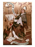 Saint Augustine (354-430) Giclee Print by  Master of the Choirs