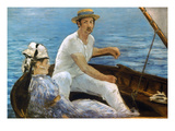 Manet: On A Boat, 1874 Prints by Edouard Manet