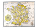 Map: France Giclee Print