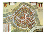 Holland: Gouda Plan, 1649 Premium Giclee Print by Jan Blaeu