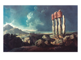 Cook: Easter Island, 1774 Giclee Print by William Hodges