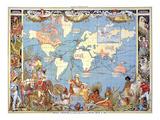 Mapa, Imperio Británico, 1886 Lámina giclée por Crane, Walter