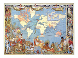 Map: British Empire, 1886 Posters by Walter Crane