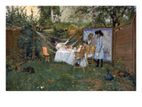 Chase: Breakfast, 1888 Premium Giclee Print by William Merritt Chase