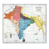 India: Map, 19Th Century Posters