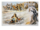 Free Silver Cartoon, 1890 Giclee Print by Victor Gillam