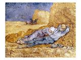Van Gogh: Noon Nap, 1889-90 Art by Vincent van Gogh