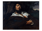 Courbet: Self-Portrait Giclee Print by Gustave Courbet