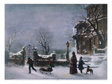 The First Snow, 1877 Premium Giclee Print by Joseph Hoover