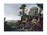 Apollo And The Muses Prints by Claude Lorrain