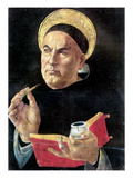 St. Thomas Aquinas Giclee Print by Sandro Botticelli