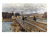 Sisley: Foot-Bridge, 1872 Giclee Print by Alfred Sisley