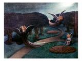 Degouve: Angels, 1894 Impression giclée par William Degouve De Nuncques