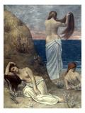 Puvis De Chavannes: Girls Giclee Print by Pierre Puvis de Chavannes