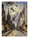 Jongkind: St. Severin, 1877. The Street And Church Of St. Severin, 1877 Posters by Johan-Barthold Jongkind