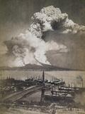 Mt. Vesuvius Erupting Photographic Print