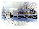 Claude Monet: The Magpie Impresso gicle por Claude Monet