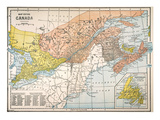 Map: Eastern Canada Giclee Print