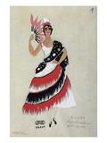 Bolero Costume Giclee Print by Leon Leyritz