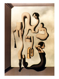 Magritte: Acrobat&#39;s Ideas Giclee Print by Rene Magritte