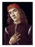 Portrait Of A Youth Prints by Sandro Botticelli