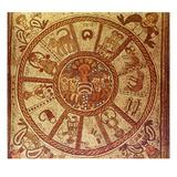 Zodiac, Roman Mosaic Giclee Print