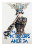 World War I: Motor Corps Giclee Print by Howard Chandler Christy