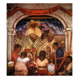 Rivera: Rain Giclee Print by Diego Rivera