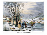 Winter Pastime, 1856 Print by  Currier & Ives