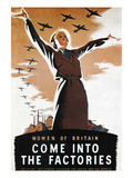 WWII: British Poster Posters by Donald Zec