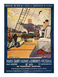 Steamship Travel Poster Prints